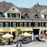 Hotel Sonne, Hauptstrasse Offenburg, Gebäude aus dem Barock, das mit wechselhafter Geschichte immer ein Gasthaus war.